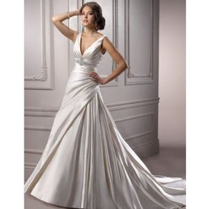 Maggie Sattero ivory wedding gown-not altered